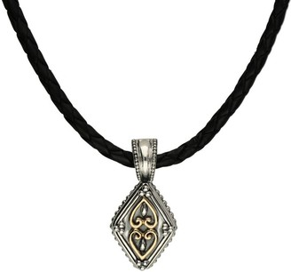 Elyse Ryan Sterling Silver & 14K Gold Leather Cord Necklace