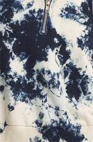 TEXTILE Elizabeth and James Hooded Tie Dye Sweatshirt Cloudy Small