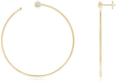 Natori Indochine 14k Giant Diamond Side-Facing Open Hoop Earrings