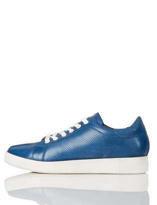 Find. find. Simple Leather Low-Top Sneakers Light Blue) 8 UK
