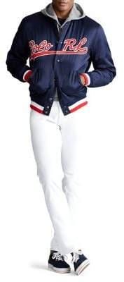 Polo Ralph Lauren Logo Cotton-Blend Baseball Jacket