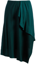 Three Dots Eve Green Ruffle Sierra Asymmetric Skirt