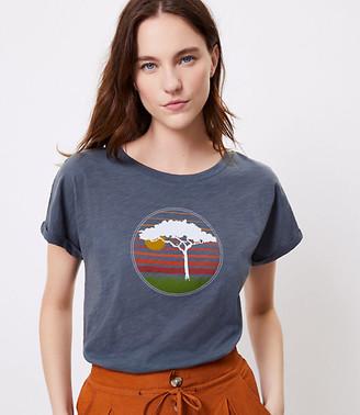 LOFT Beach Shirttail Tee