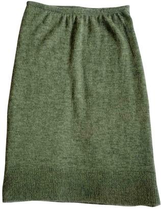 Missoni Green Wool Skirt for Women
