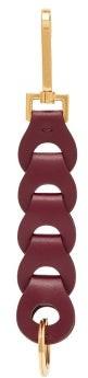 Bottega Veneta Chain-link Leather Key Ring - Womens - Burgundy Multi