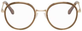 Chloé Khaki Round Glasses