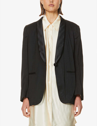 MM6 MAISON MARGIELA Creased-texture woven blazer
