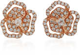 As 29 AS29 XS Pave Flower with Line Earrings