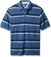 Tommy Hilfiger Men's Tall Big & Tall Stripe Short Sleeve Polo Shirt Shirt, 424, 3XL