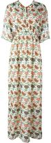 Tory Burch 'Antiquity' v neck wide sleeve maxi dress
