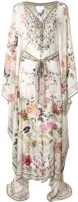 Camilla floral print lace up kaftan