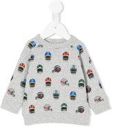 Stella McCartney Helmet print sweatshirt - kids - Cotton - 6 mth