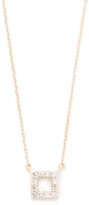 Adina Super Tiny Pave Square Necklace