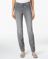Style&Co. Style & Co. Curvy Tummy-Control Grey Wash Skinny Jeans, Only at Macy's