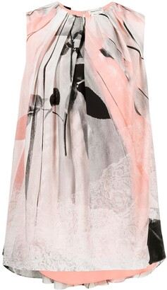 Alexander McQueen Layered Graphic-Print Blouse