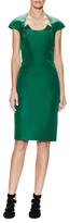 Zac Posen Fitted Cap Sleeve Sheath Dress