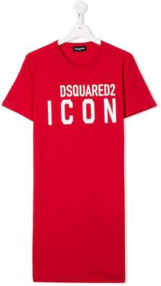 DSQUARED2 TEEN Icon cotton T-shirt dress