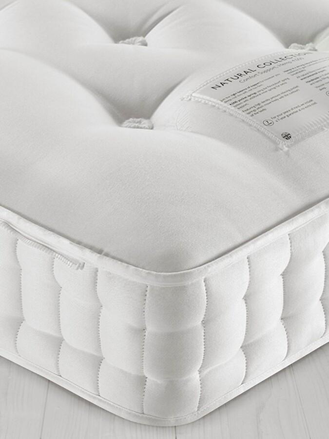 John Lewis & Partners Natural Collection Egyptian Cotton 5900, Super King Size, Medium Tension Pocket Spring Zip Link Mattress