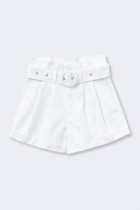 Forever 21 Belted Paperbag Denim Shorts