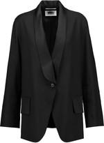 MM6 MAISON MARGIELA Satin-trimmed wool-blend blazer