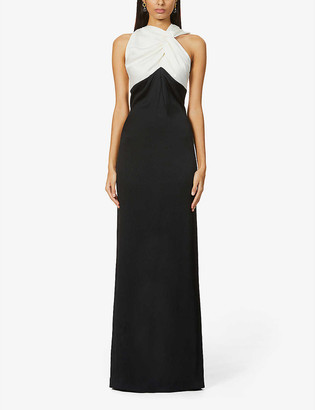 Roland Mouret Gazella twist-knot stretch-silk gown