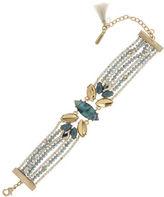 lonna & lilly Cubic Zirconia, Epoxy Cab and Abalone Bracelet