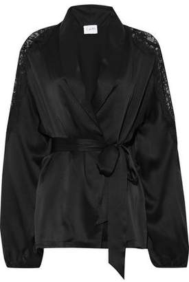 CAMI NYC The Kimberly Lace-trimmed Silk-charmeuse Jacket