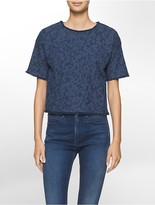Calvin Klein Frayed Denim T-Shirt