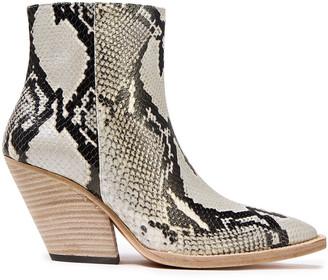 IRO Arezela Snake-effect Leather Ankle Boots