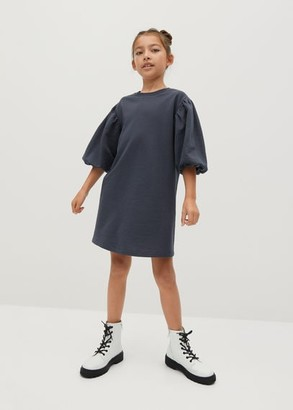 MANGO Puffed sleeves organic cotton dress