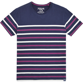 Joules Skippteron Striped T-shirt, French Navy/dark Purple