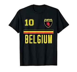 Belgium Belgian Flag Football Soccer Jersey T-Shirt
