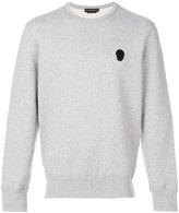 Alexander McQueen skull applique sweatshirt - men - Cotton - M