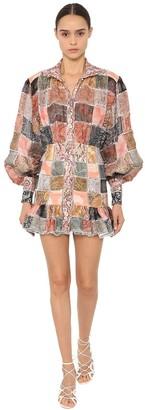 Zimmermann Ninety-Six Patch Linen & Silk Mini Dress