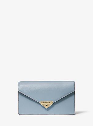 Michael Kors Grace Medium Patent Leather Envelope Clutch