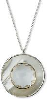 Ippolita Ondine Large Circle Pendant Necklace, Quartz/Mother-of-Pearl