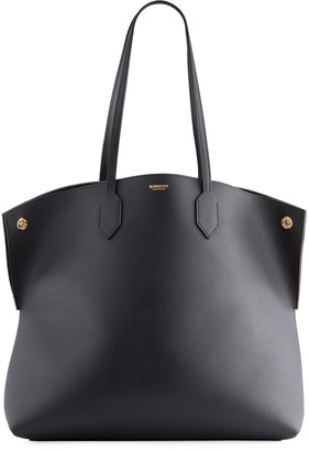 Burberry Society Leather Tote Bag