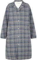 Off-White Oversized Prince Of Wales Checked Woven Coat - Gray