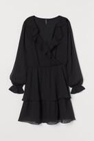 H&M Plumeti Chiffon Dress - Black