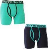 Pierre Roche Mens Keyhole Trunks / Boxer Shorts (Pack Of 2)