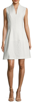 Josie Natori Textured Fit And Flare Dress