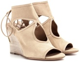 Aquazzura Sexy Thing Wedge Suede Sandals