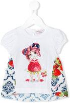 MonnaLisa strawberry print T-shirt - kids - Cotton/Polyester/Spandex/Elastane - 6 mth