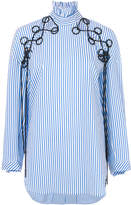 Ellery striped embroidered shirt
