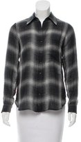 L'Agence Plaid Long Sleeve Top