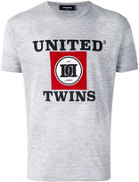 DSQUARED2 'United Twins' T-shirt - men - Cotton/Viscose - XS