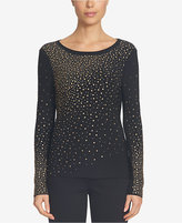 CeCe Embellished Scoop-Neck Top
