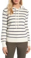 Women's Nordstrom Signature Stripe Cashmere Hoodie