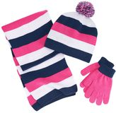 Berkshire Girls 4-16 3-pc. Striped Scarf, Hat & Gloves Set