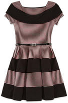 Knitworks Knit Works Marilyn Neck Belted Skater Dress - Girls' 7-16
